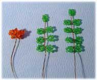 Рябина: плетем из бисера.