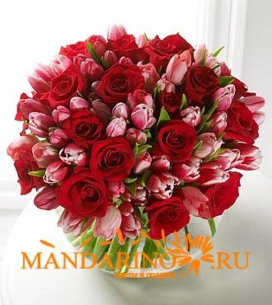 Цветы розы букет фото